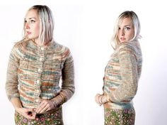 vintage 50's mohair wool hand made sweater cardigan by foxandfawns, $54.00