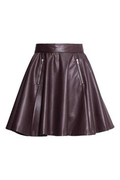 H&M Leather skirt in eggplant [BOUGHT]