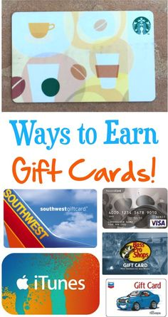 Earn Gift Cards!  Load up on FREE gift cards for your upcoming vacations and road trips!