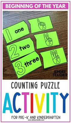 Counting math centers for beginning of the year for kindergarteners. Using hands-on activities, students will practice counting and identifying numbers 1 to 10 using ten frames, their fingers, drawing pictures, and partner activities. Discover new ways to teach these concepts and download a freebie too! Kindergarten First Week, Kindergarten Special Education, Number Sense Kindergarten, Number Sense Activities, Kindergarten Worksheets, Hands On Activities, Student Learning, Numbers Preschool, Working With Children