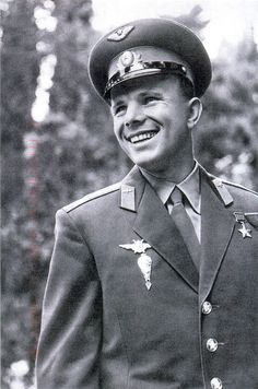 Yuri Alekseyevich Gagarin (1934-1968): a dashingly handsome Soviet cosmonaut and the first human in space.