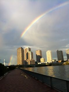 Rainbow over Tsukishima
