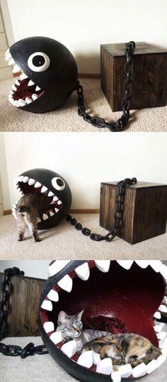 Chain Chomp Cat Bed! So fun.