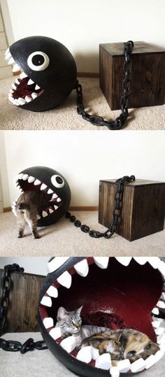 Chain Chomp Cat Bed If I ever get a cat, small dog or rabbit,...