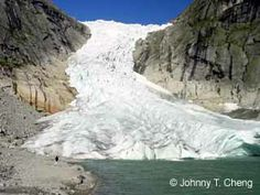 Near the terminus of the Briksdal Glacier (Briksdalsbreen) - one of the arms of the massive Jostedal Glacier (Jostedalsbreen)