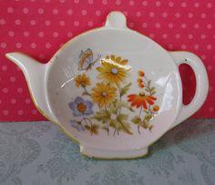 Cute Vintage Tea Bag Dish Made in Japan by EdenKitsch on Etsy