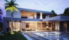 Beautiful Minimalist House Design Ideas in South Lamar Minimalist House Design, Minimalist Home, Modern Villa Design, Modern Architects, Luxury Homes Dream Houses, Modern House Plans, Future House, Villas, Ideas Para