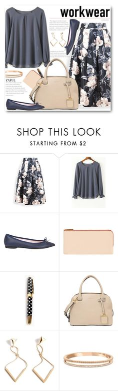 Work Wear by beebeely-look on Polyvore featuring Repetto, DKNY, Swarovski, Kate Spade, WorkWear, Spring, floralprint, officewear and zaful