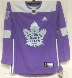 Hockey Fights Cancer Toronto Maple Leafs Purple 255J Adidas NHL Authentic  Pro Jersey 4d0ead40a