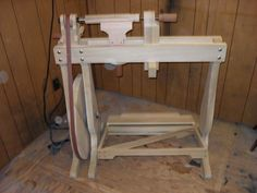Woodworkers CME Handworks Inc Treadle Lathe, Wood bodied and Foot Operated #CMEHandworksInc
