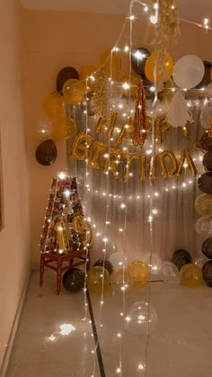 Birthday Wishes Gif, Wild One Birthday Party, 18th Birthday Party, Birthday Party Themes, Simple Birthday Decorations, Anniversary Decorations, Diy Party Decorations, Balloon Decorations, Balloon Backdrop