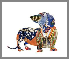 Unusual Dogs Collages [ Creative + Art]