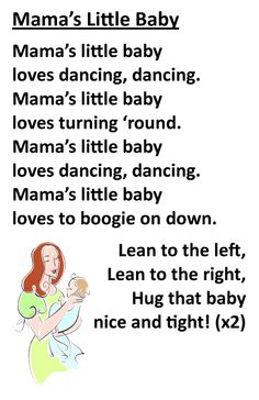 Itty Bitty Rhyme: Mama's Little Baby Silly Songs, Baby Songs, Songs For Toddlers, Songs For Babies, Baby Storytime, Nursery Rhymes Lyrics, Baby Programs, Kids Poems, Children Songs