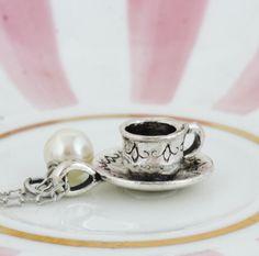 Silver Tea Cup Necklace