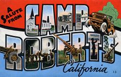 A Salute from Camp Roberts, California - Large Letter Postcard