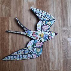 Vintage Plates, Vintage China, Black Grout, Mosaic Wall Art, Broken China, Ceramic Plates, Etsy Shop, Ceramics, Handmade Gifts