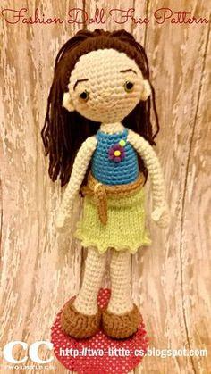 Fashion Doll - Free Amigurumi Crochet Pattern here: http://two-little-cs.blogspot.com.es/2015/03/fashion-doll-free-pattern.html