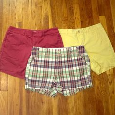 Dockers Shorts Bundle Size 12 3 pairs of shorts, red, yellow and plaid. All size 12. In good condition! Dockers Shorts