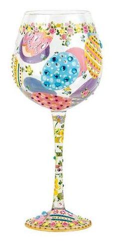 Easter Super Bling Wine Glass by Lolita   Lolita® Wine Glasses (West End Glasses)