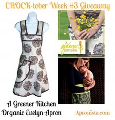 CROCK-tober Evelyn Apron Giveaway from A Greener Kitchen at Apronista.com
