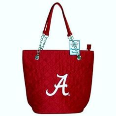 - University of Alabama Crimson Tide Embroidered Quilted Tote Bag Purse