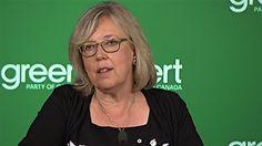 Elizabeth May líder del Partido Verde de Canadá.