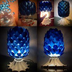 DIY Drachenei-Lampe aus Plastiklöffeln  Dragon Egg Lamp made with plastic spoons