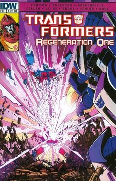 Transformers Regeneration One #0 Cover C Incentive Geoff Senior Variant Cover