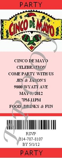 Cinco De Mayo party invitations