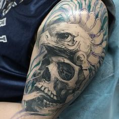 1000 images about tattoos on pinterest skull tattoos for Skull and eagle tattoo