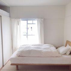 Bedroom/無印良品/白/一人暮らし/団地/シンプル...などのインテリア実例 - 2017-03-07 11:11:42   RoomClip (ルームクリップ)