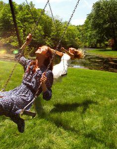 Swings in summer ~ So carefree ~
