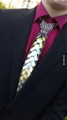 Saw this at prom today... Aluminium tie