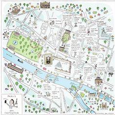 Map of Paris by Soledad Bravi