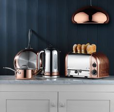 Buy Copper Spray Finish Dualit NewGen Toaster from our Toasters range at John Lewis & Partners. Kitchen Decor Themes, Home Decor Kitchen, Kitchen Ideas, Kitchen Inspiration, Kitchen Tools, Kitchen Design, Kitchen Stuff, Kitchen Gadgets, Home Design