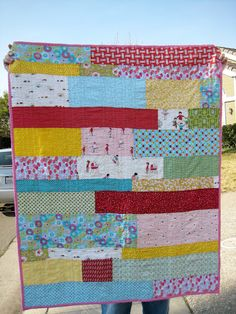 Sawtooth star baby quilt back
