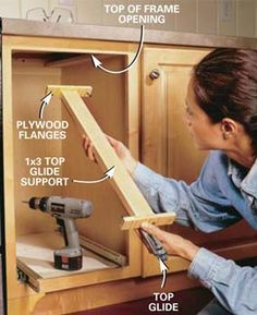 Build these 5 kitchen storage projects and increase the storage capacity of your cabinets without increasing the size of your kitchen or replacing cabinets. step-by-step diy ... Finding space Door-mounted spice and lid racks Swing-down cookbook rack Blind-corner glide-out and swing-out shelves Roll-out pantry cabinet
