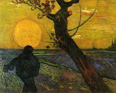 The Sower, 1889 by Vincent Van Gogh #chepakko #van #gogh #art #painters #canvas  #paintings