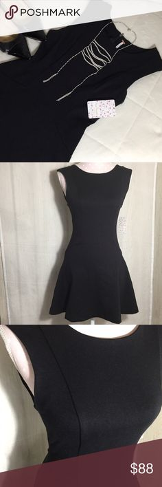 """Free People Ponte Mini Dress in Black in XS Can never go wrong with a black dress and this FP dress is perfect from its princess seams, round neck and flared skirt. Style number OB416268. 58% cotton 38% polyester and 4% spandex Machine wash cold and tumble dry low. Bust 29"""" length is 31"""" all measurements are approximate. Free People Dresses Mini"""