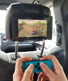 Nintendo Switch Car Headrest Mount - Switch Nintendo - Switch Nintendo for sales. Nintendo 3ds, Nintendo Switch Games, Super Nintendo, Nintendo Switch Accessories, Gaming Accessories, Video Game Rooms, Video Games, Geek Mode, Phineas E Ferb
