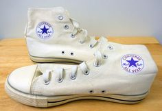 Chuck Taylor All Star Converse Sneakers Shoes High Tops US Size 12 White Canvas  #Converse #ChuckTaylorAllStars