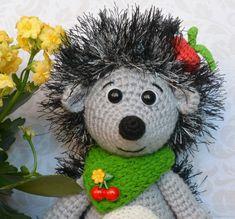Ёж Лучик - игрушка, вязаная крючком – купить в интернет-магазине на Ярмарке Мастеров с доставкой