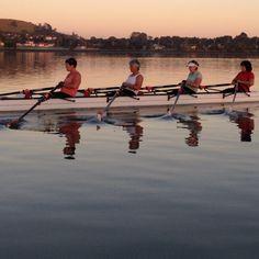 Masters rowing quad