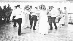 The Romanov sisters dancing with officers aboard the imperial yacht Polar Star c. 1912. by historyofromanovs