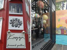 vitrines boutiques islande