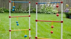 Tailgate Game Rentals: Ladder Golf. Hours of fun with this Ladder Ball/Golf Set. Sure, it's not real golf, but then again, you are at a football game, yes?
