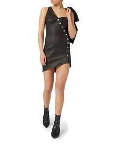 Clemay+Leather+Dress%2C+BLACK%2C+hi-res