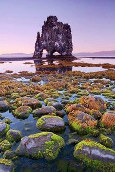 Rock Formation In Iceland..