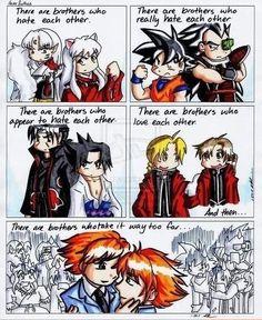 InuYasha, Dragonball, Naruto, Full Metal Alchemist, and Ouran High School Host Club.