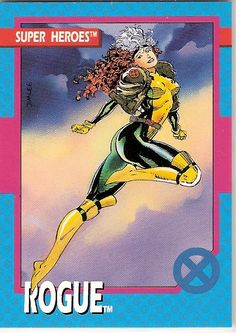 X-Men Trading Cards Series I - Rogue with the skunk stripe, as it should…